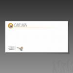 Projekt i wydruk koperty DL dla firmy OBELIKS