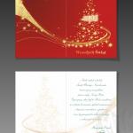 Projekt i wydruk kartki świątecznej dla firmy SOJDAL