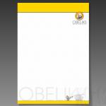 Projekt i wydruk papieru firmowego dla firmy OBELIKS