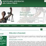 Wdrożenie i oprawa graficzna dla firmy KANCELARIA ADWOKACKA adw. ŁUKASZ WÓJCIK