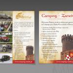 Projekt i wydruk ulotki dla CAMPINGU ZAMEK / PASJONATÓW 4X4
