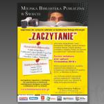 Projekt i wydruk plakatu dla MIEJSKIEJ BIBLIOTEKI PUBLICZNEJ W ŚWIECIU