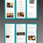 Projekt i wydruk ulotki dla firmy STUDIO URODY & SPA