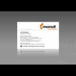 Projekt według wzoru i wykonanie wizytówki dla firmy MONDI PACKAGING