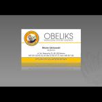 Projekt i wykonanie wizytówki dla firmy OBELIKS