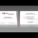 Projekt i wykonanie wizytówki dla firmy NOVA-TECH