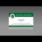 Projekt i wykonanie wizytówki dla firmy KANCELARIA ADWOKACKA adw. ŁUKASZ WÓJCIK