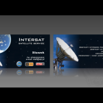 Projekt i wykonanie wizytówki dla firmy INTERSAT