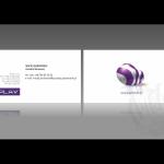 Projekt według wzoru i wykonanie wizytówki dla firmy PLAY
